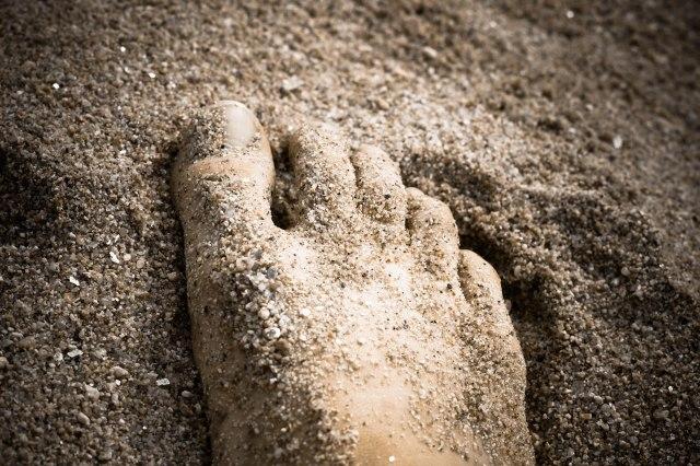 foot sand