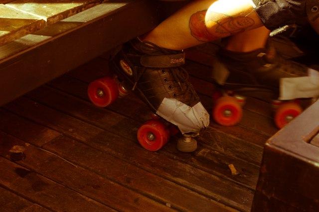 Rollerskates. Hipster.